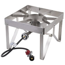 Stainless Steel Single Burner Liquid Propane Outdoor Camping Patio Stove / Range