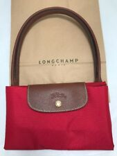 LONGCHAMP Femmes Medium Nylon Sac 100% Authentique Avec Sac de transport rouge