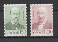 S11234) Faroe Islands 1980 MNH Europa, Famous Persons 2v