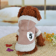 Warm Winter Hoodie Jumpsuit Coat Jacket Clothes Costume For Pets Dog Cat Puppy