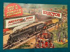 Original Fun & Thrills American Flyer Erector 1949 Catalog