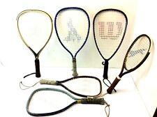 Mixed Lot Racquetball Rackets Wilson Midsize Slazenger Pro Kennex Ektelon
