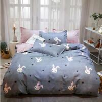 3D Rabbit Head ZHUA3611 Bed Pillowcases Quilt Duvet Cover Set Queen King Zoe