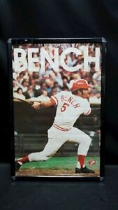 1973 Johnny Bench Poster Officially Licensed and Distributed by the Reds. Framed