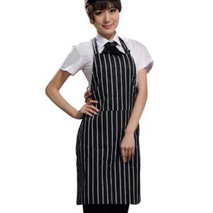 Chef Apron Kitchen Cooking Bib Apron Dress W/Pocket Restaurant Pinafore Workwear