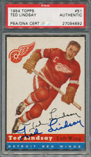 1954/55 Topps #51 Ted Lindsay PSA/DNA Certified Authentic Signed *4692