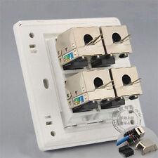 Wall Socket Plate Four Ports Gigabit Network CAT6 LAN Socket shield