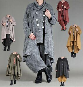 ♦ 6 Farben AKH Wohlfühl-Oversize Jacke EG 46,48,50,52,54,56,58,60,62,64 ♦