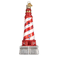 """White Shoal Lighthouse"" (20103)X Old World Christmas Glass Ornament w/OWC Box"