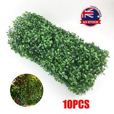 10Pcs Artificial Boxwood Hedge Fake Vertical Garden Green Wall Ivy Fence Mat O