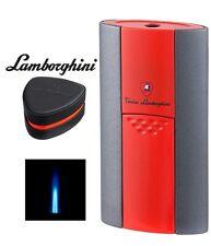 LAMBORGHINI IMPERIA SINGLE JET FLAME CIGAR LIGHTER + BOX / GREY + RED