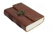India clásico - Diario pequeño Cuero Piel Búfalo Cuaderno Vintage Algodón Camino