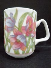 "Australian Fine China Mug - purple & pink flowers (3 3/4"" x 2 7/8"") a/f (#1)"