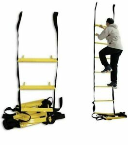 Isop, Emergency Fire Escape Rope Ladder, 25ft Retractable Ladder