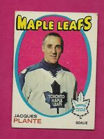 1971-72 TOPPS  # 10 LEAFS JACQUES PLANTE GOALIE EX+ CARD (INV# 7506)