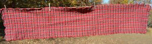 """Red  Plaid double sided CHRISTMAS QUILTED TABLE RUNNER 14x69"""""""