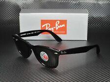 RAY BAN RB2140 901 58 Wayfarer Black Crst Green Polarized 50mm Unisex Sunglasses