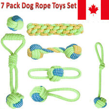 7 Pack Dog Rope Toys Set, Pet Chew Rope Toys Puppy Braided Cotton Teeth Cleaning