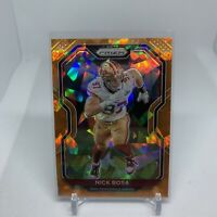 Nick Bosa 2020 Panini Prizm Fanatics Orange Cracked Ice San Francisco 49ers #285