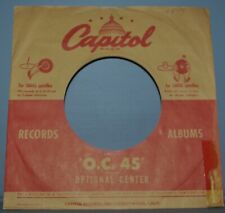 """2x 45 rpm CAPITOL brown red OC 45 company sleeve LOT original record sleeves 7"""""""