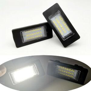 2x 12V LED license Plate Lmap Lights For BMW E82 E60 E39 E92 E90 E91 F07 E72 E71