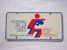 Montreal GREY CUP FESTIVAL Vintage VANITY Plastic License Plate