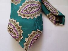 Nordstrom Necktie Teal MultiColor Hand Sewn in USA All Silk
