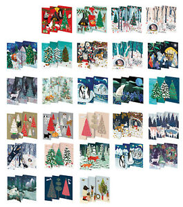 Roger la Borde Trifold, Die-cut Pop Up Christmas Cards 140 x 90mm with envelope