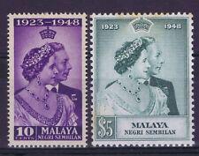 DD807 MALAYA NEGRI SEMBILAN  1948 Royal Silver Wedding SG 40/41  MNH