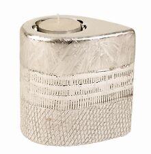 Moderno Portavelas Candelita hecho de cerámica plata altura 10cm Ancho 7C