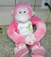 BUILD A BEAR Pink HEARTS Plush Monkey* Hands hook unhook* FULL OUTFIT Sandals