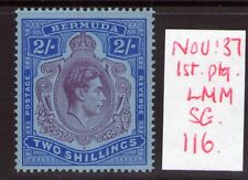 BERMUDA George VI SG116 2/- Deep purple ultramarine/grey blue Lightly hinged.