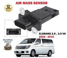 PARA NISSAN ELGRAND 2.5 3.5 V6 MPV 24v ENTRADA 2003-2010 SENSOR DE MASA DE AIRE