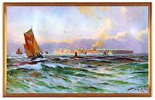 Deutsches Reich Helgoland Küste 1910 Gemälde Stöwer 8LW