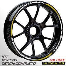 Adesivi cerchi ruote TMAX set profili BIANCO - ORO 2008-2011 T MAX wheel R.5s