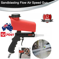 Pneumatic Sandblaster Sand Blaster Gun 90PSI Adjust Flow Blasting Abrasives