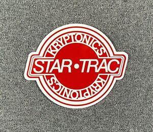 "KRYPTONICS STAR-TRAC Wheels Skateboard Sticker 3.25"" Red sk8"