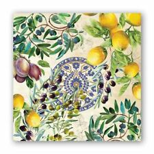 Michel Design Works 20 Triple-Ply Paper Cocktail Napkins Tuscan Grove - NEW
