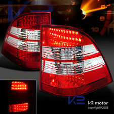 1998-2005 Mercedes W163 Ml-Class Ml320 Ml430 Red Clear LED Rear Tail Lights