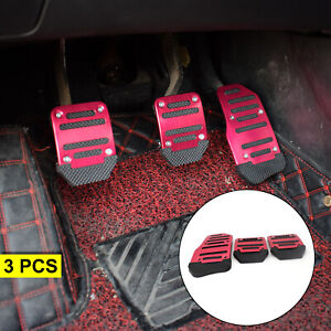Non-slip Gas Brake Foot Pedal Clutch Pad Cover Auto Accelerator Car Parts X3