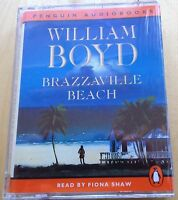 AUDIO BOOK: WILLIAM BOYD - Brazzaville Beach on 2 x Cass read by Fiona Shaw NEW
