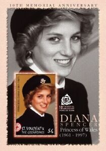 St. Vincent 2007 - SC# 3578 Princess Diana 10th Memorial - Souvenir Sheet - MNH