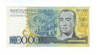 100000 Cruzeiros Brasilien 1985 C176 / P.205 Brazil Banknote