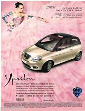 PUBLICITE ADVERTISING 095  2007  LANCIA  la YPSILON  toit ouvrant panoramique