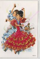 CP BRODEE EMBROIDERED BORDADA FOLKLORE Danseuses 7523 C