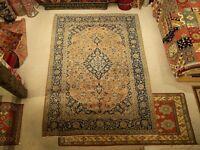 7.3 x 11 VINTAGE Handmade Antique 1930s Anatolian Oriental Wool Rug_High Quality