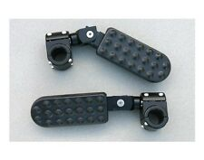 """K1600GT Black Driver Highway pegs for 25mm or 1"""" engine bars BMW R1200GS R1200RT"""