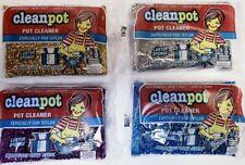 Cleanpot Pot Cleaner Non-Scratch Teflon Scrubber Luster Sponge Multi Pack