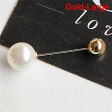 Big Needle Pearl Brooch Bouquet Pin Sweater Shawl Buckleweddingbridal Jewelry 0g Gold-small