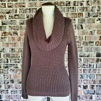 Anthropologie Angel Of The North Womens Small Cowl Neck Knit Sweater Wool Blend